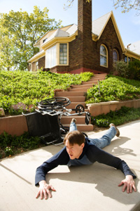 Fall down at home or work and disability insurance will cover you.